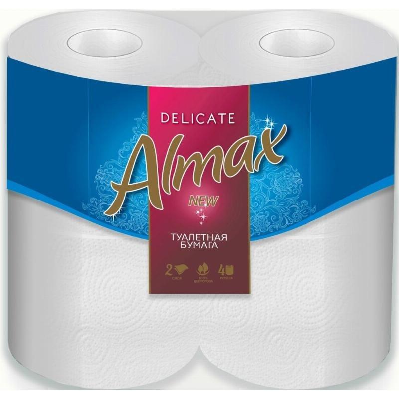 Бумага туалетная Almax Delikate New 2-сл жёлтая 4 шт/уп