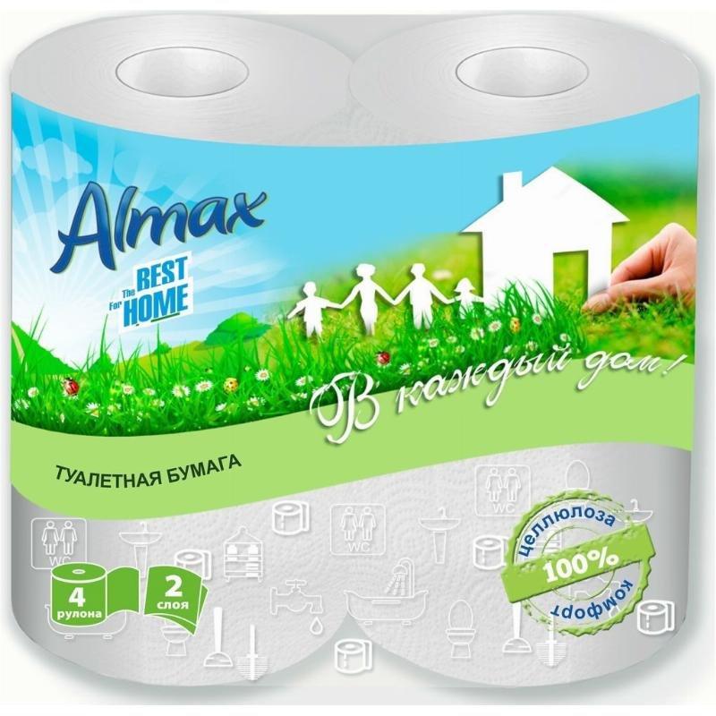 Бумага туалетная Almax The Best For Home 2-сл 4 шт/уп белая