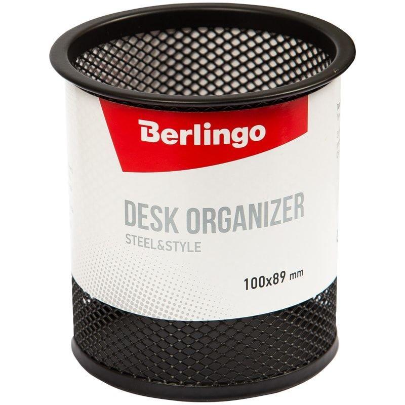 Подставка-стакан  металлическая Berlingo Steel&Style круглая черная