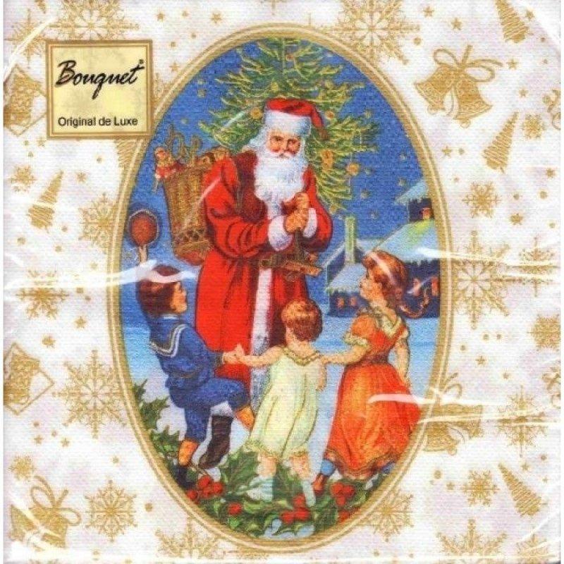 НГ Салфетки 20л 33х33см 2сл Новогодняя сказка