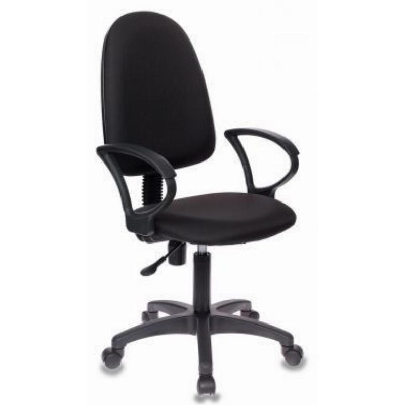 Кресло для оператора Бюрократ CH-1300 с подлокотниками ткань черное