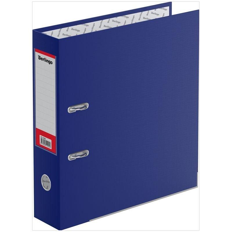 Папка-регистратор 70мм Berlingo Mega Top бумвинил уголок карман синяя
