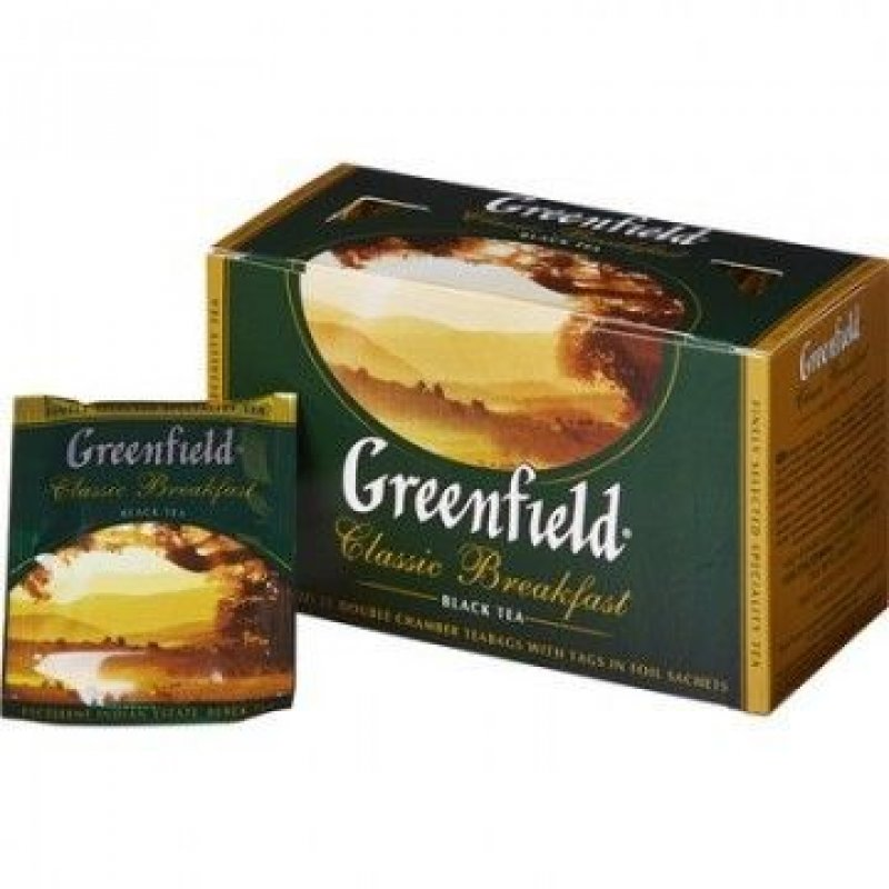 Чай Greenfield Classic Breakfast 25шт в пакетиках черный