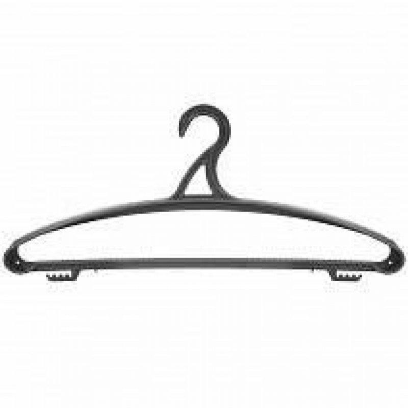 Вешалка-плечики универсальная р 48-50 черная пластик
