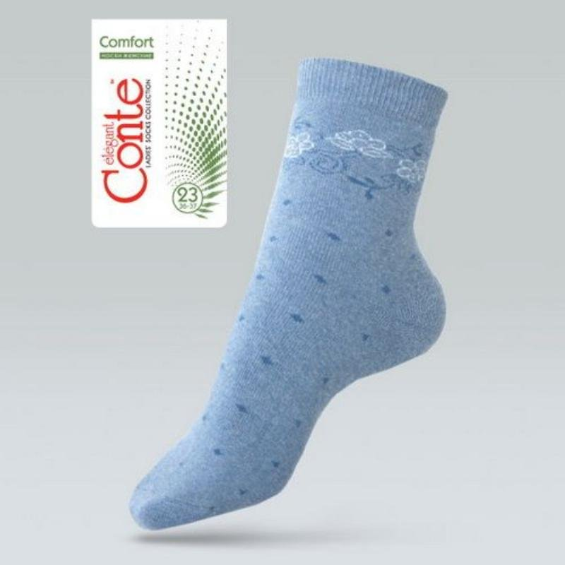 Носки жен Comfort махровые р25 цвет белый джинс