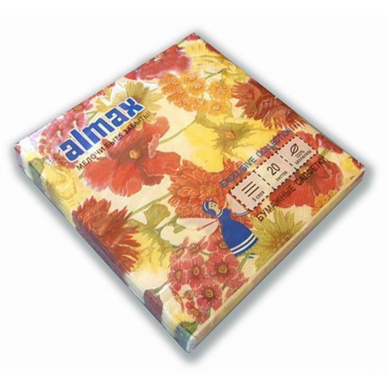Салфетки 20л Almax Exclusive Collection 33х33см 3сл Цветочный Вальс