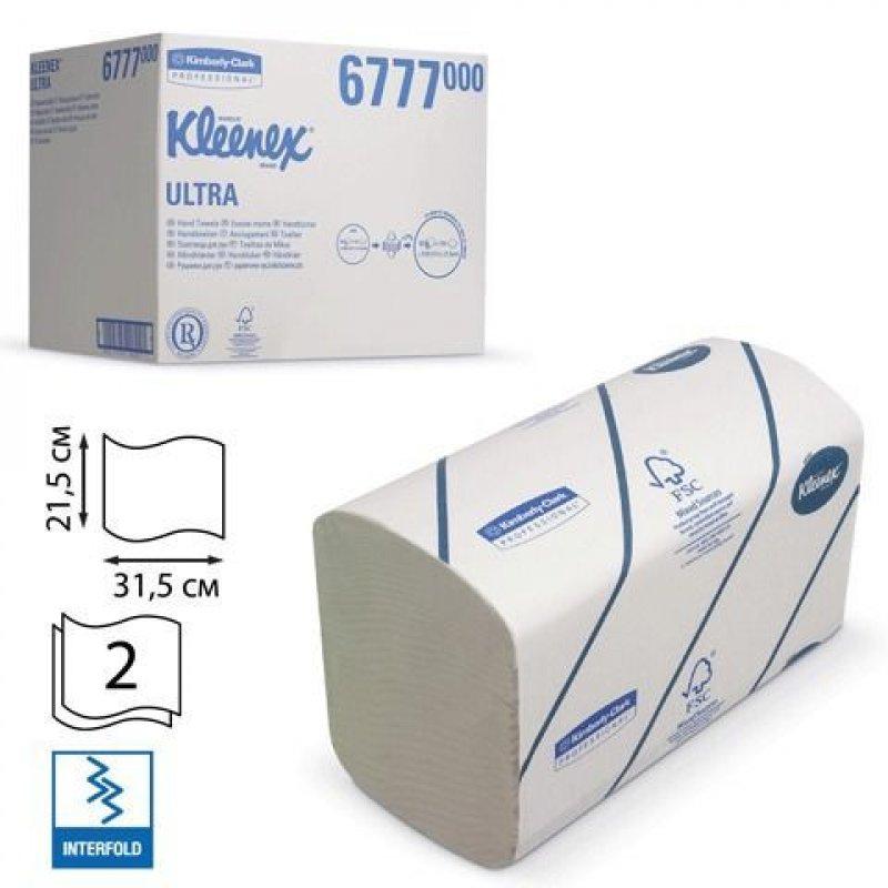 Полотенце бумажное KIMBERLY-CLARK Kleenex 2-сл V-слож 315х215мм 124л белое 30шт/уп