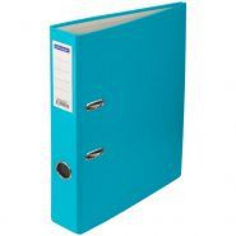 Папка-регистратор 50мм OfficeSpace бумвинил карман бирюзовая