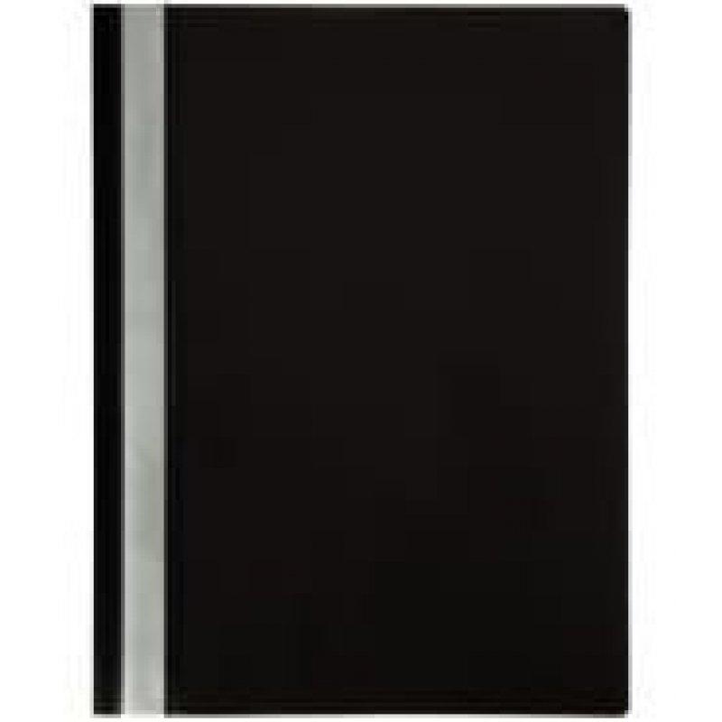 Папка с прозрачным верхним листом OfficeSpace 120мкм черная