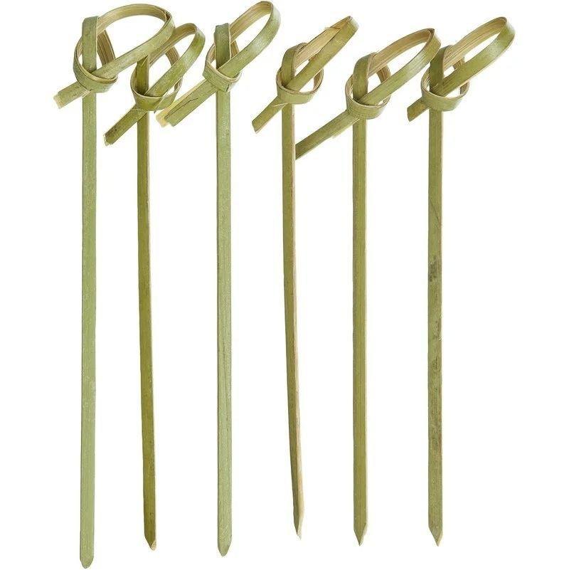 Шпажки для канапе 9см Узелок 100шт/уп бамбук