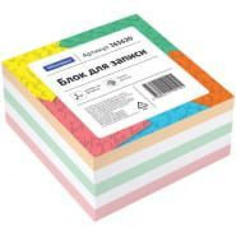 Блок для записей 80х80х40мм OfficeSpace цветной