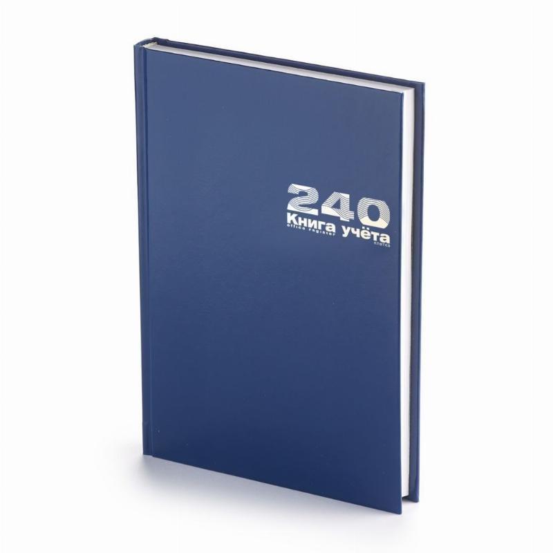 Книга учета А4 240л Альт клетка обложка бумвинил блок офсет