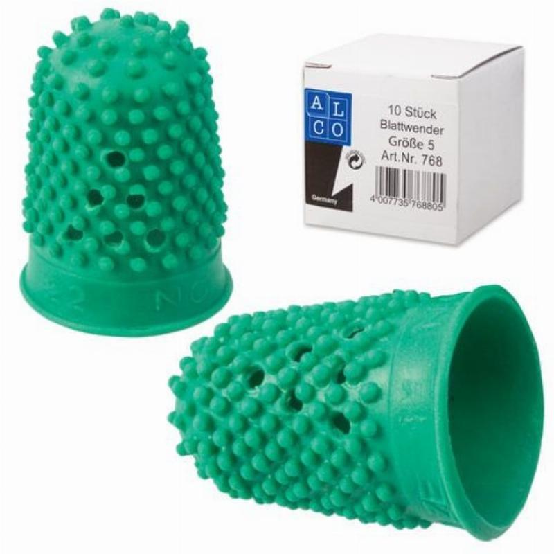 Напальчник для бумаги диам 22 мм выс 33 мм цвет зеленый резиновый