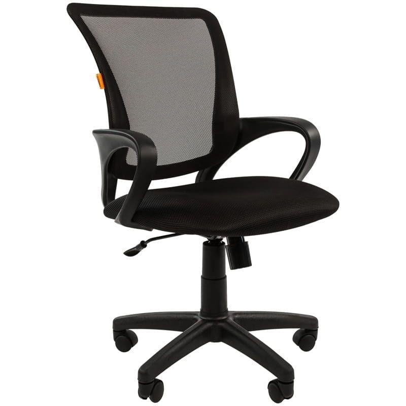 Кресло для оператора Chairman CH-969 с подлокотниками ткань черное/черное