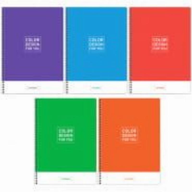 Тетрадь А4 80л Моноколор Colorful Color design клетка гребень