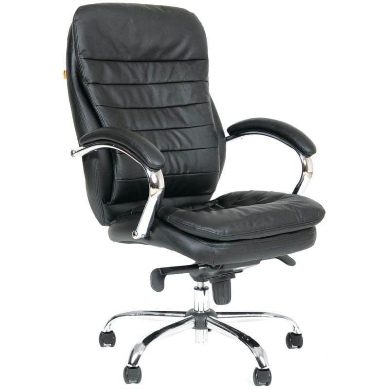 Кресло руководителя Chairman 795 CH с подлокотниками кожа черное