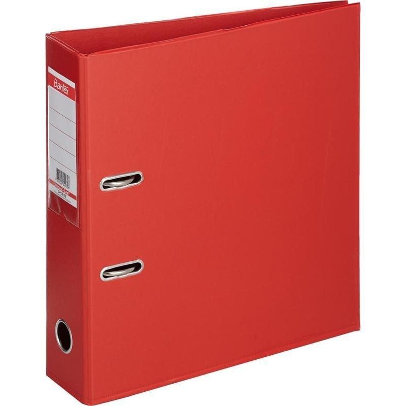 Папка-регистратор 70мм Bantex Strong Line двухстороннее ПВХ карман красная