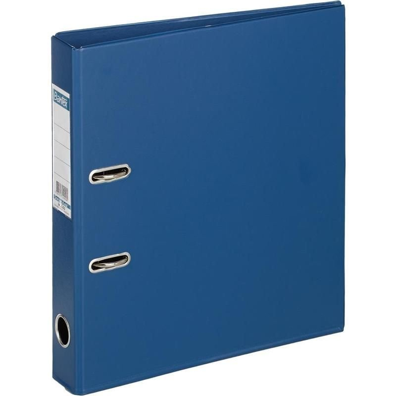 Папка-регистратор 50мм Bantex Strong Line двухстороннее ПВХ карман темно-синяя