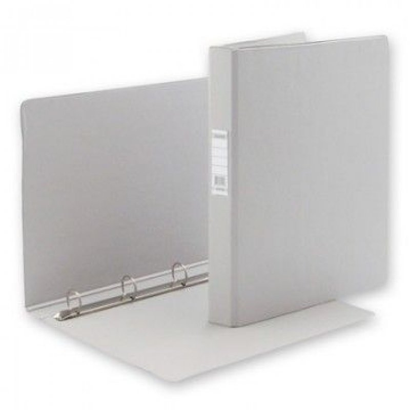 Папка на 4-х кольцах картон/ПВХ 35мм Bantex серая