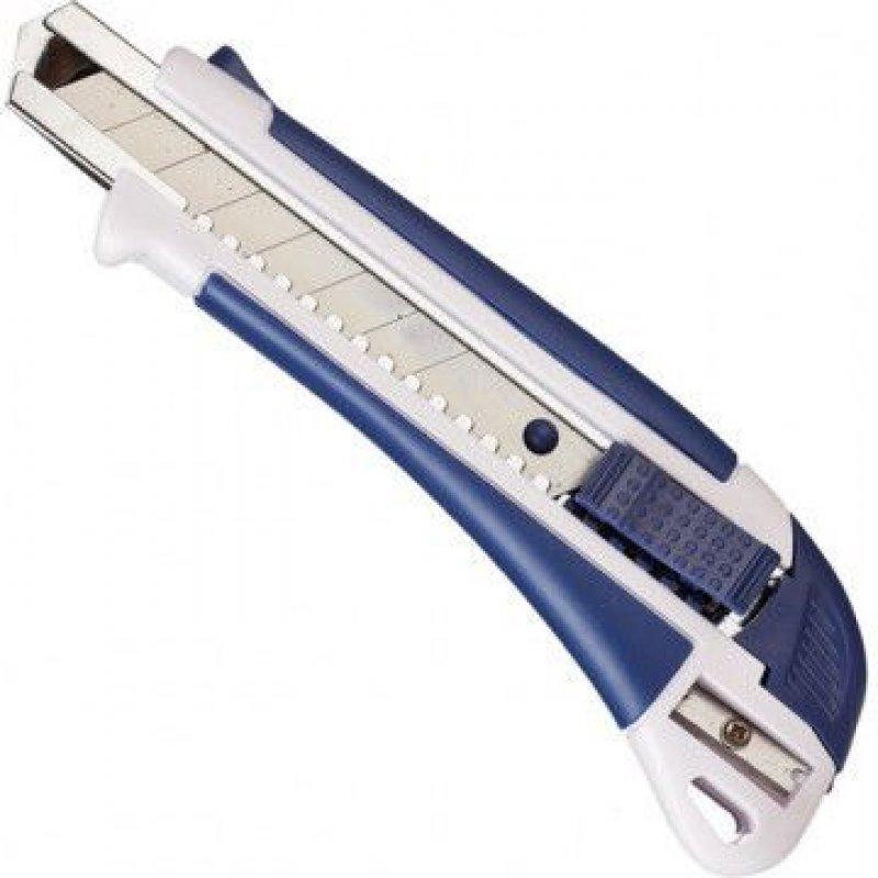 Нож канцелярский 18мм Attache Selection металл направляющие автофиксатор резин вставки с точилкой