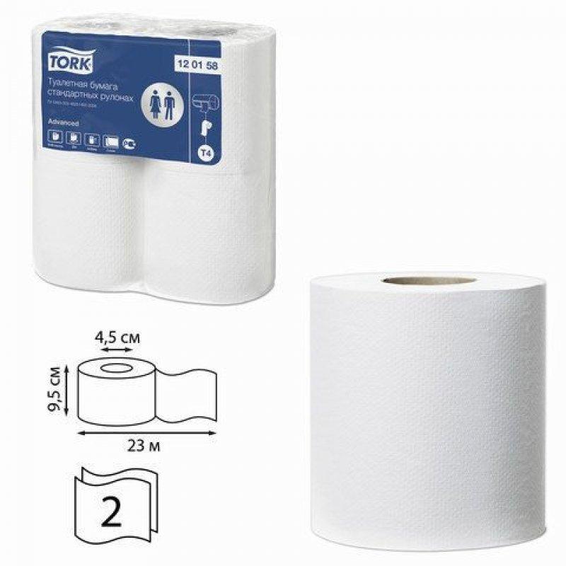 Бумага туалетная Tork Advanced (Т4) 2-сл белая 4шт/уп