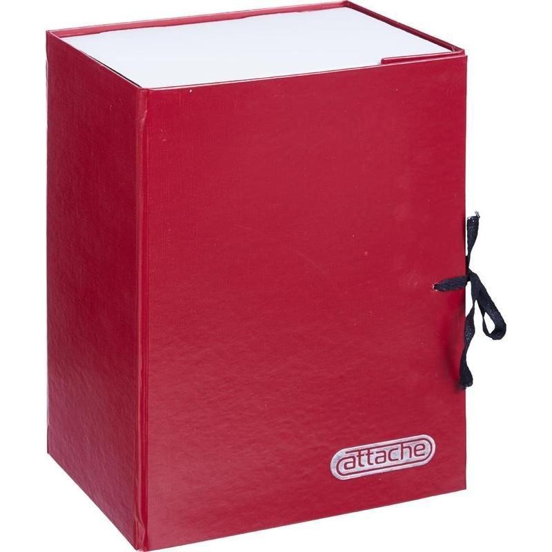 Короб архивный 150мм 2 завязки 1400л бумвинил красный 330х240х160мм Attache