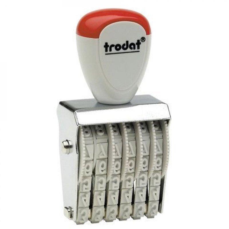 Нумератор Trodat 6 разряд оттиск 27х4 мм 1556, 54886