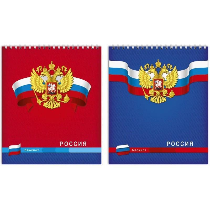 Блокнот А5 60л Россия гребень