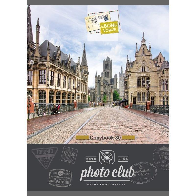 Тетрадь А4 80л листов Европейский город клетка