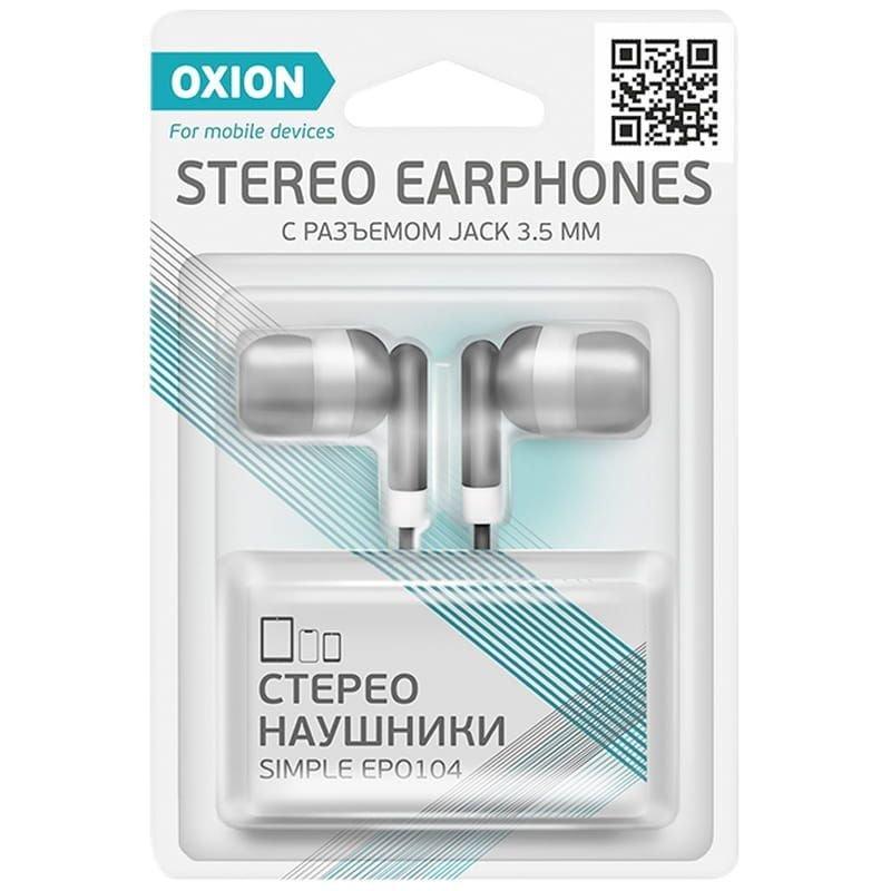 Наушники-вкладыши Oxion EPO104 1м черный