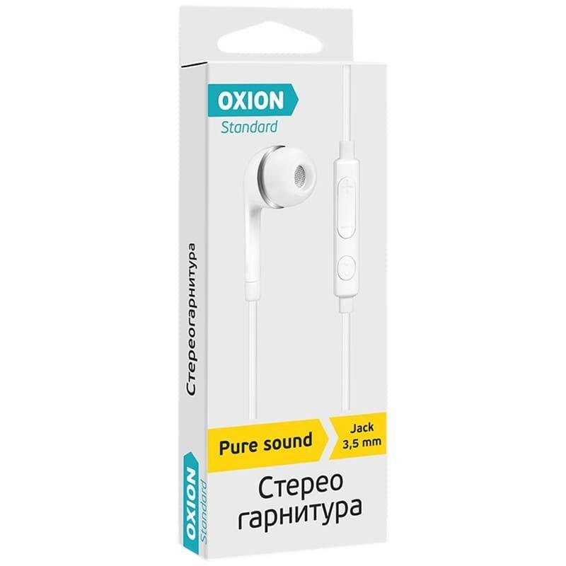 Наушники-вкладыши с микрофоном Oxion HS230WH 1м белый
