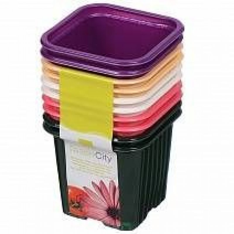 Горшок для цветочной рассады пластиковый Линер 7х7х6,2см 10 шт/уп