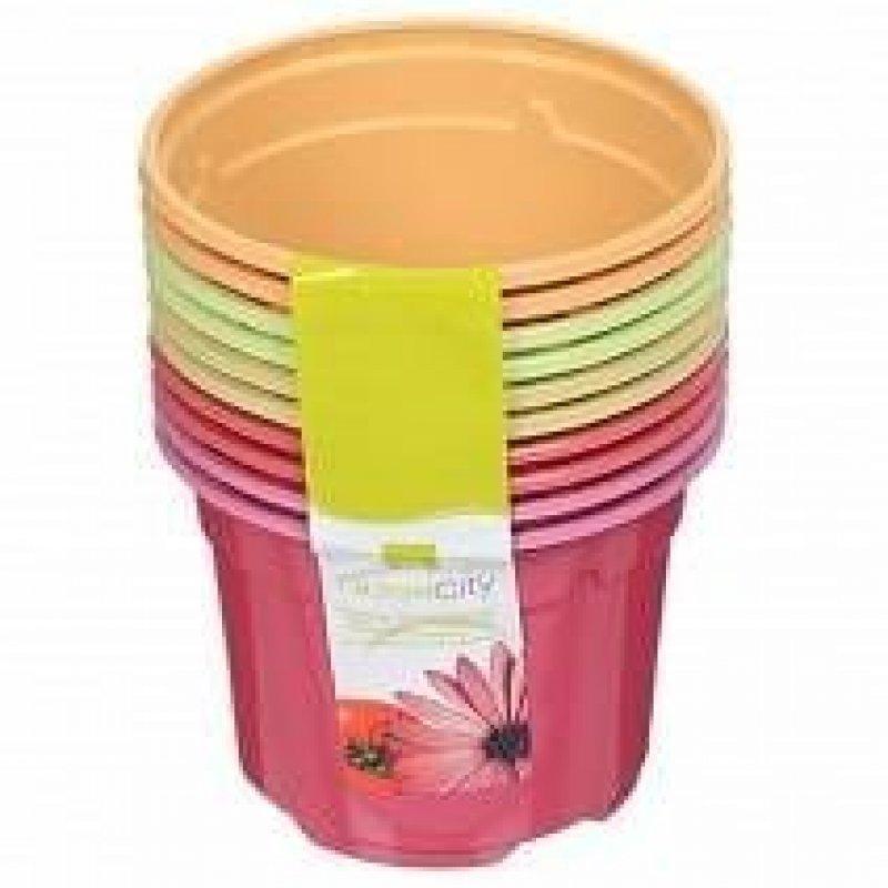 Горшок для цветочной рассады пластиковый Дуо 10,5х8см 10 шт/уп