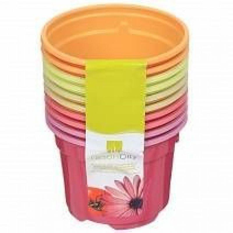 Горшок для цветочной рассады пластиковый Дуо 9х6,8см 10 шт/уп