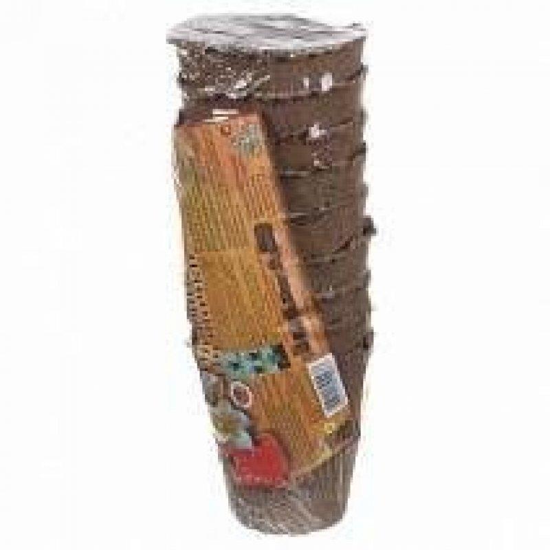 Горшок торфяной круглый Умный Огород 9х9 см 9 шт/уп