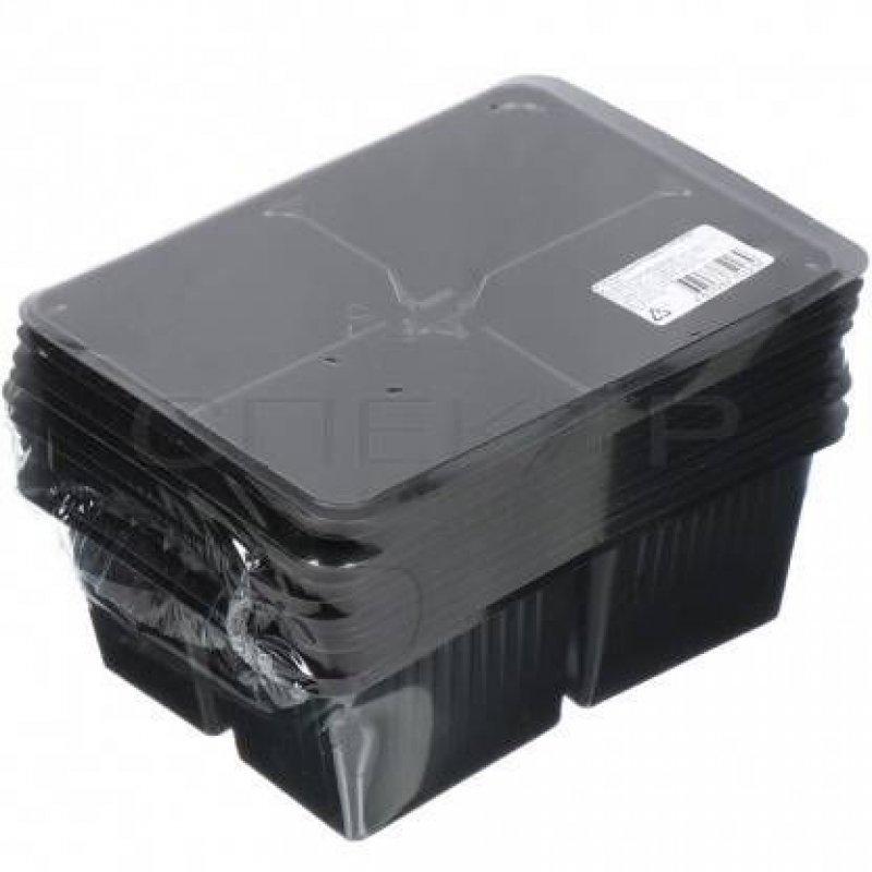 Кассета для рассады 4 ячейки 17,5х13,5х6,5 см 10 шт/уп