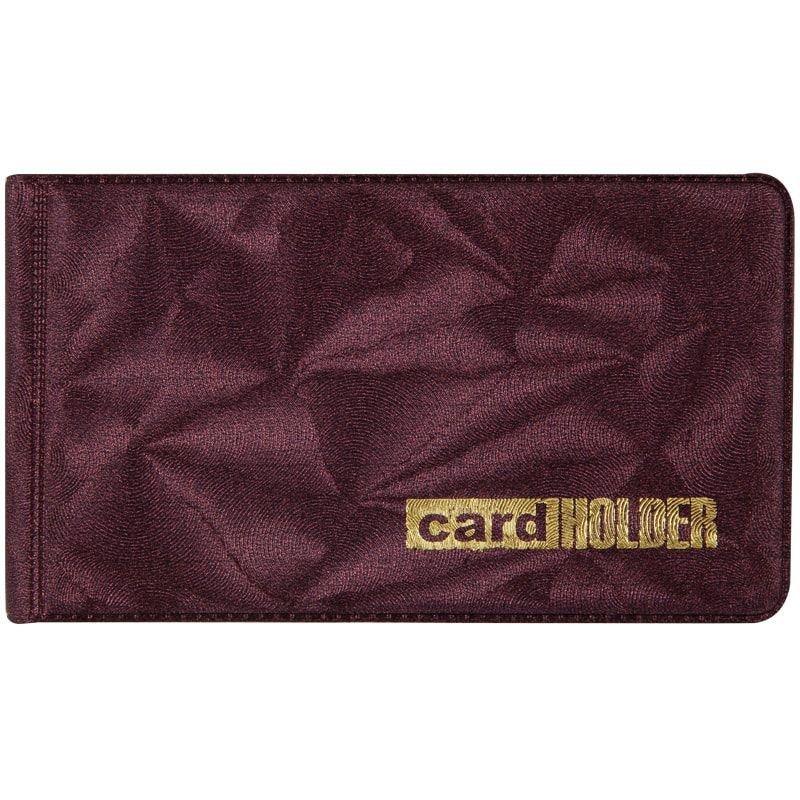 Визитница карманная 20 визиток OfficeSpace ПВХ бордо