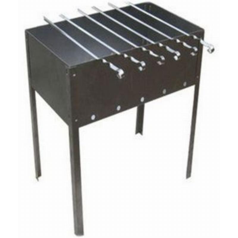 Мангал сборный Тайга плюс 400х250х400 + 6х370 шампуров в коробке