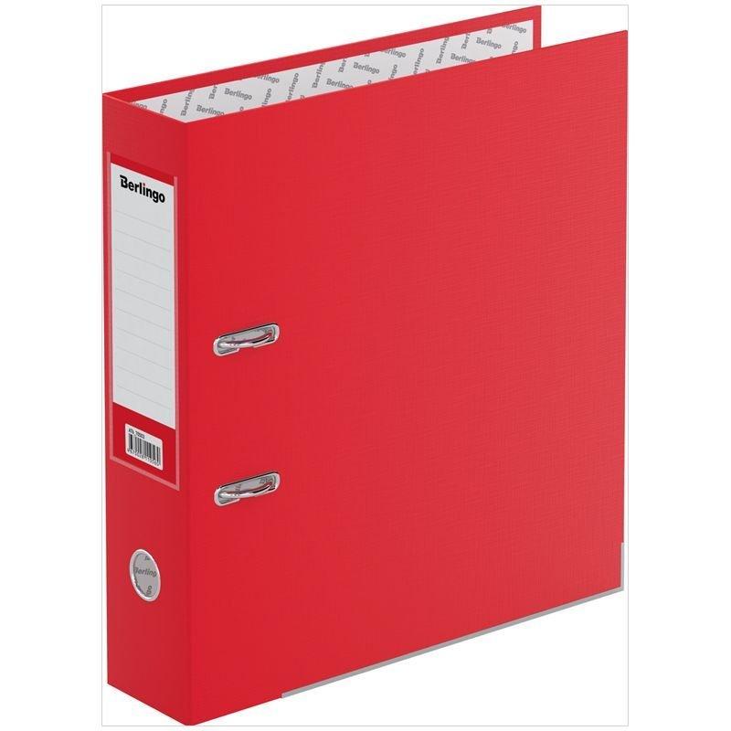 Папка-регистратор 70мм Berlingo Mega Top бумвинил уголок карман красная