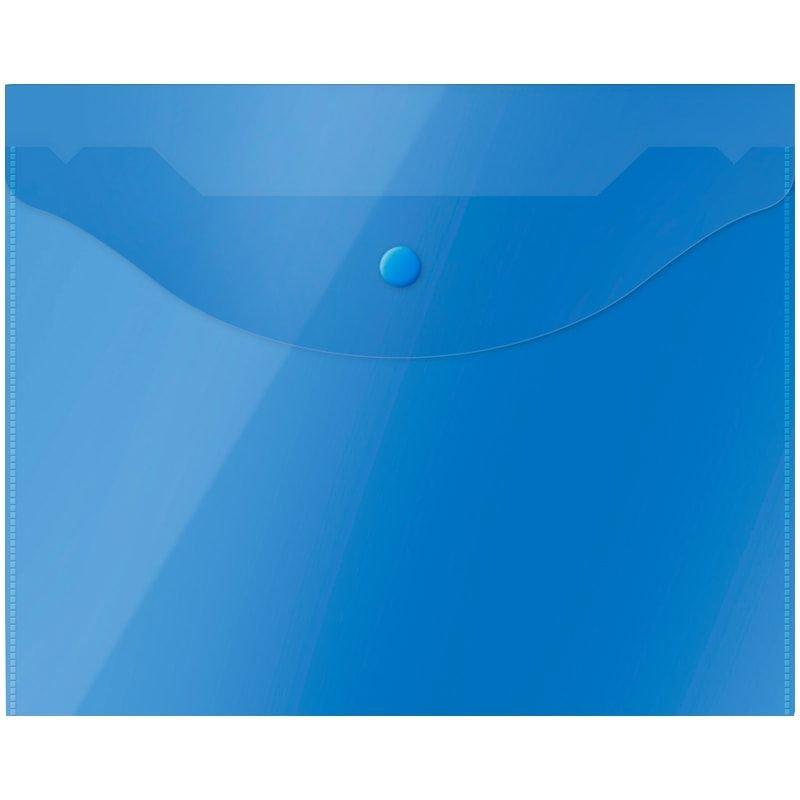 Папка-конверт с кнопкой А5 OfficeSpace 0,15мм синяя