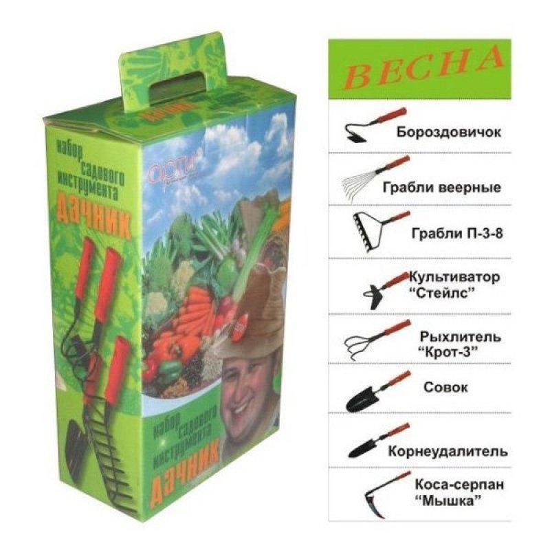 Набор садовых инструментов Дачник