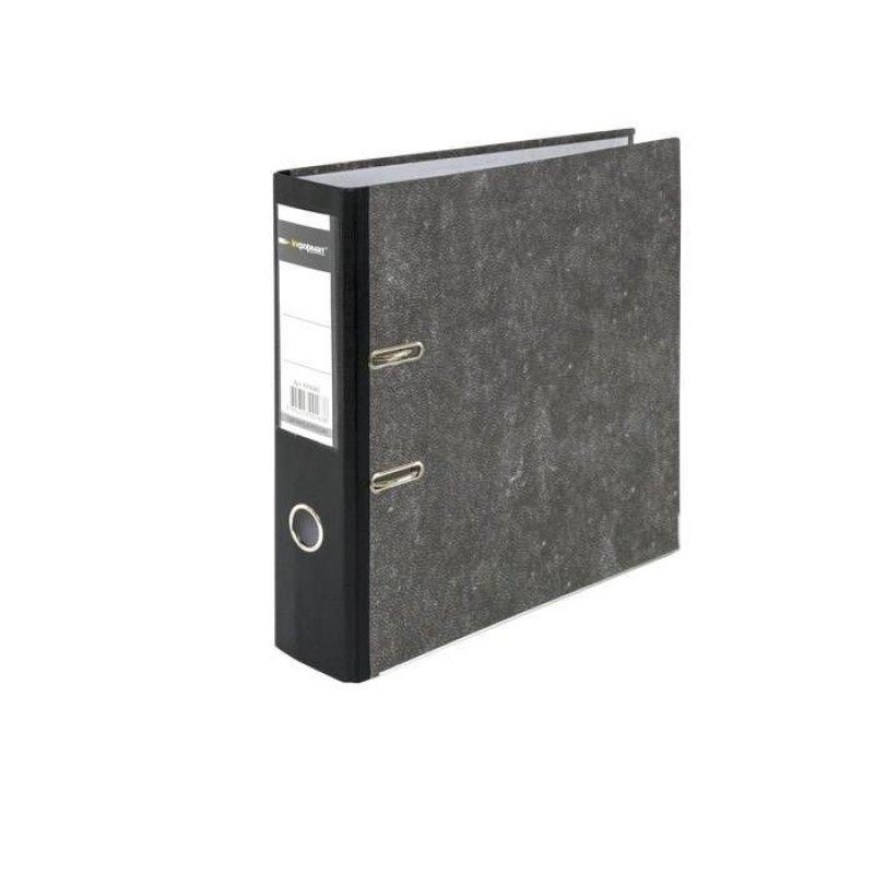 Папка-регистратор 75мм Attache мрамор черная
