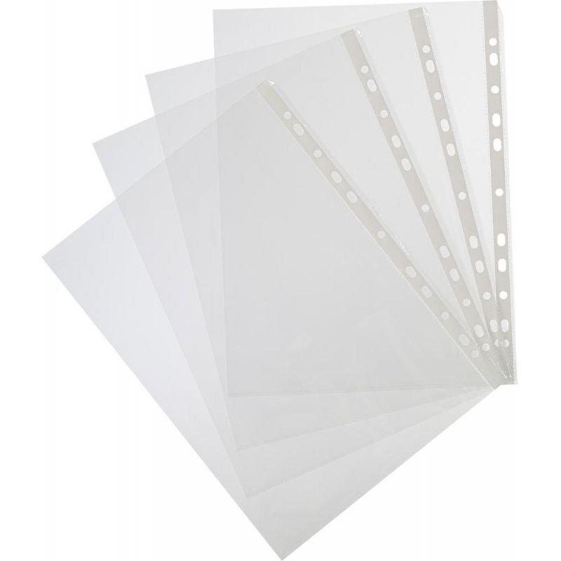 Папка-файл прозрачная с перфорацией А4 Attache 100шт/уп 35мкм глянец
