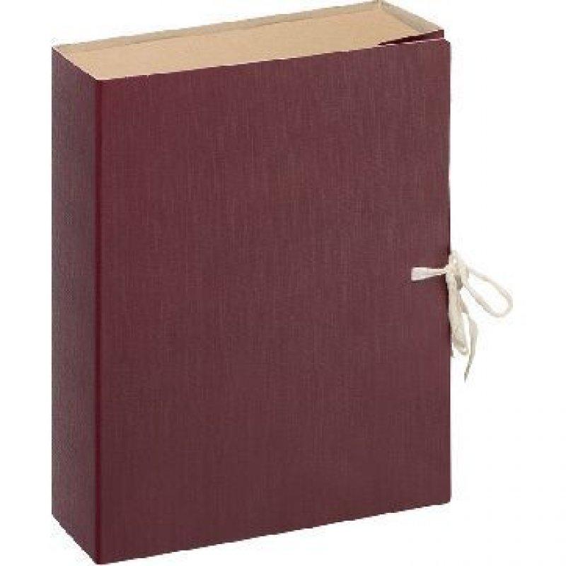 Короб архивный 100мм 2 завязки 900л бумвинил бордовый 330х240х100мм Attache