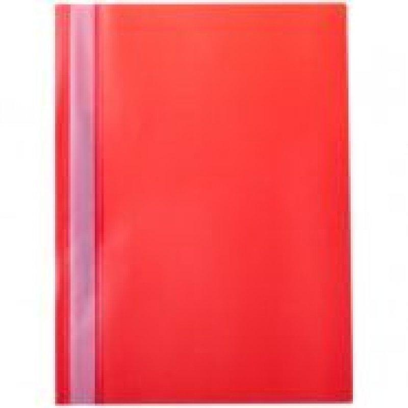 Папка с прозрачным верхним листом OfficeSpace 160мкм красная