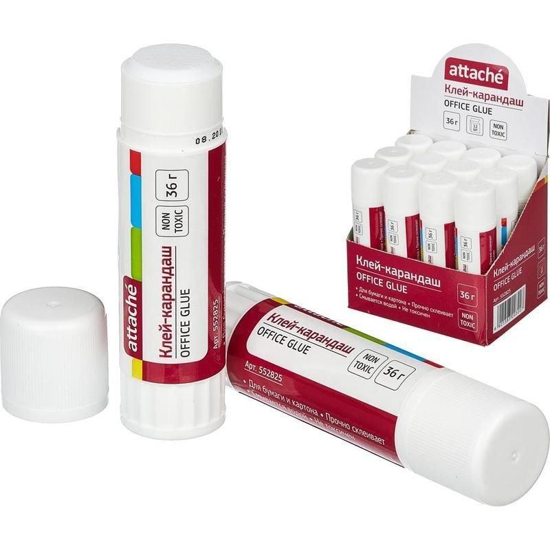 Клей-карандаш 36г Attache Office Glue