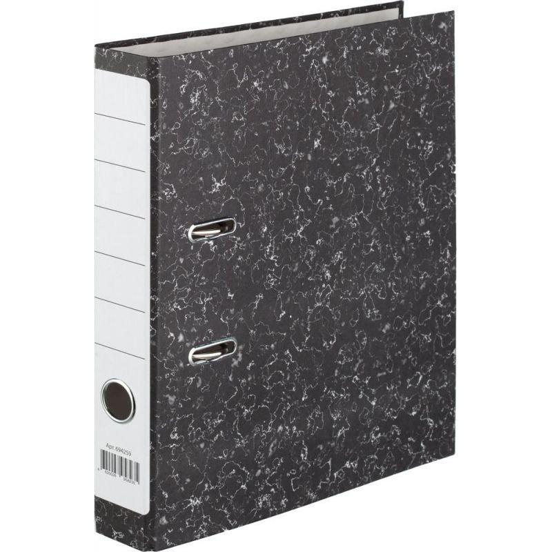 Папка-регистратор 50мм Attache мрамор черная