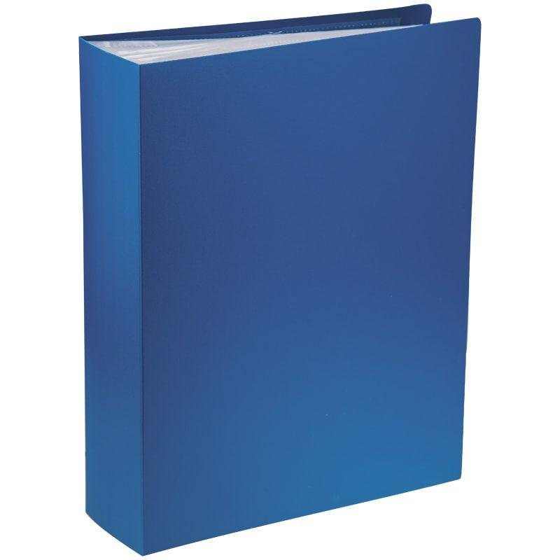 Папка 100 вкладышей OfficeSpace 0,8мм синяя