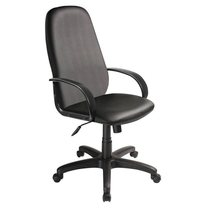 Кресло руководителя Бюрократ CH-808AXSN с подлокотниками экокожа черное