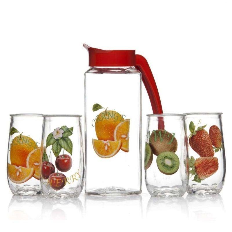 Набор кувшин стаканы Фрукты-2стекло 5пр